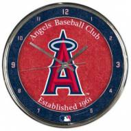 Los Angeles Angels Round Chrome Wall Clock