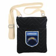 Los Angeles Chargers Chevron Stitch Crossbody Bag