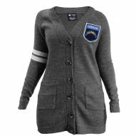 Los Angeles Chargers Women's Gray Varsity Cardigan