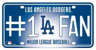 Los Angeles Dodgers #1 Fan License Plate