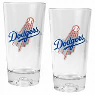 Los Angeles Dodgers Baseball Sculpted Bottom Pint Glass Set