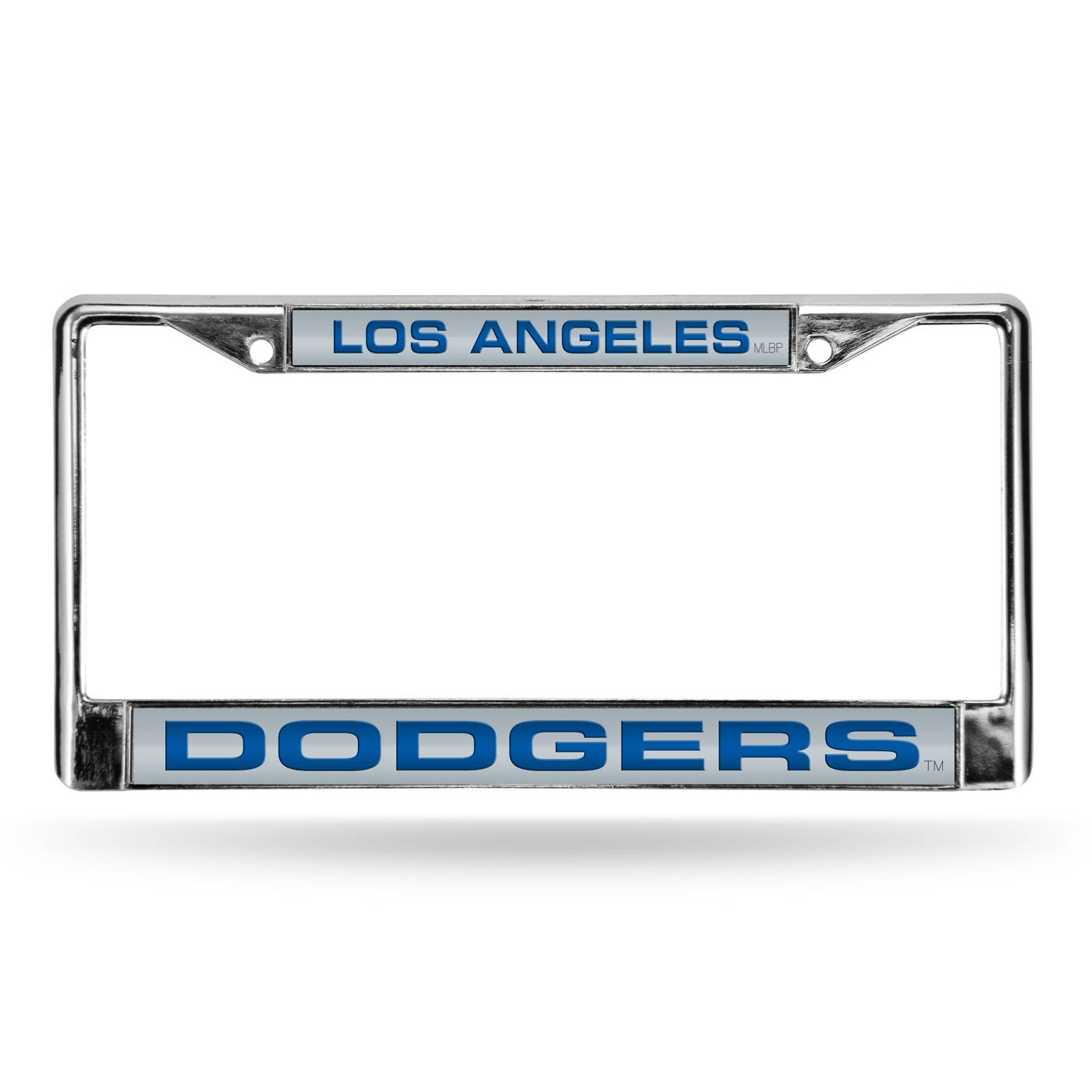 decked out with shiny laser cut acrylic inserts the los angeles dodgers laser chrome license plate frame will make you a stand out fan - Dodgers License Plate Frame