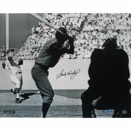 "Los Angeles Dodgers Sandy Koufax WS Pitching Signed 16"" x 20"" Photo"