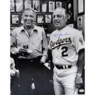"Los Angeles Dodgers Tom Lasorda w/ Frank Sinatra Signed 16"" x 20"" Photo"