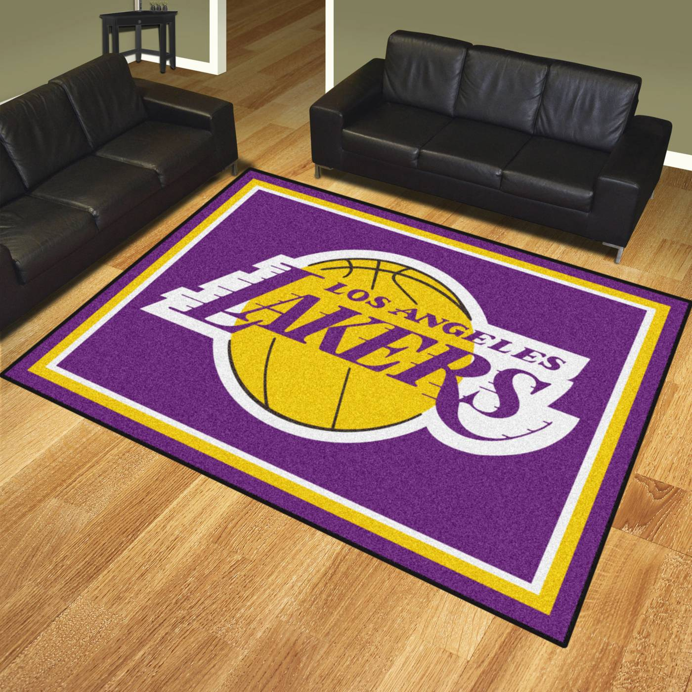 Large Basketball Area Rug: Los Angeles Lakers 8' X 10' Area Rug