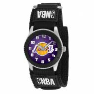 Los Angeles Lakers Black Rookie Kids Watch