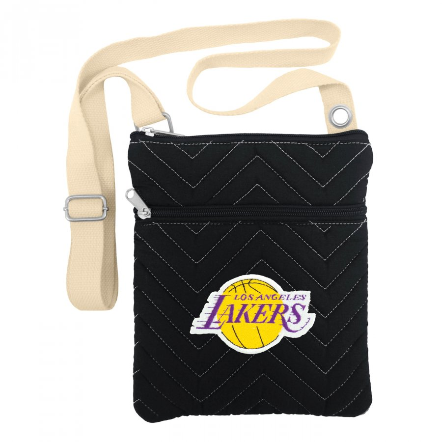 Los Angeles Lakers Chevron Stitch Crossbody Bag