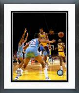 Los Angeles Lakers Magic Johnson 1980 Action Framed Photo