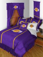 Los Angeles Lakers Sidelines Bed Comforter