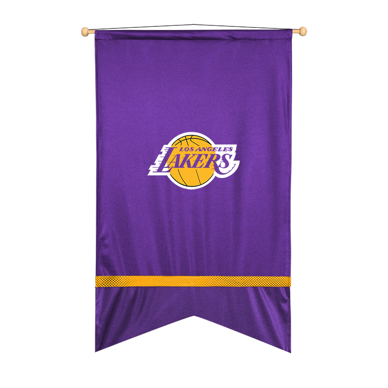 Los Angeles Lakers Sidelines Wall Flag