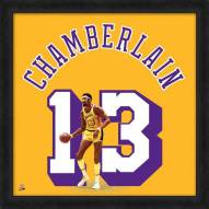 Los Angeles Lakers Wilt Chamberlain Uniframe Framed Jersey Photo