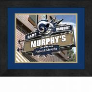 Los Angeles Rams 13 x 16 Personalized Framed Sports Pub Print