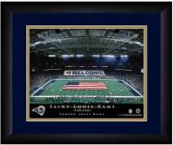 Los Angeles Rams 13 x 16 Personalized Framed Stadium Print