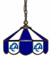 "Los Angeles Rams 14"" Glass Pub Lamp"