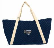 Los Angeles Rams Alternate Chevron Stitch Weekender Bag