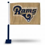 Los Angeles Rams Car Flag with Navy Pole