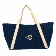 Los Angeles Rams Chevron Stitch Weekender Bag