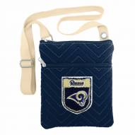 Los Angeles Rams Crest Chevron Crossbody Bag