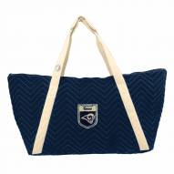 Los Angeles Rams Crest Chevron Weekender Bag