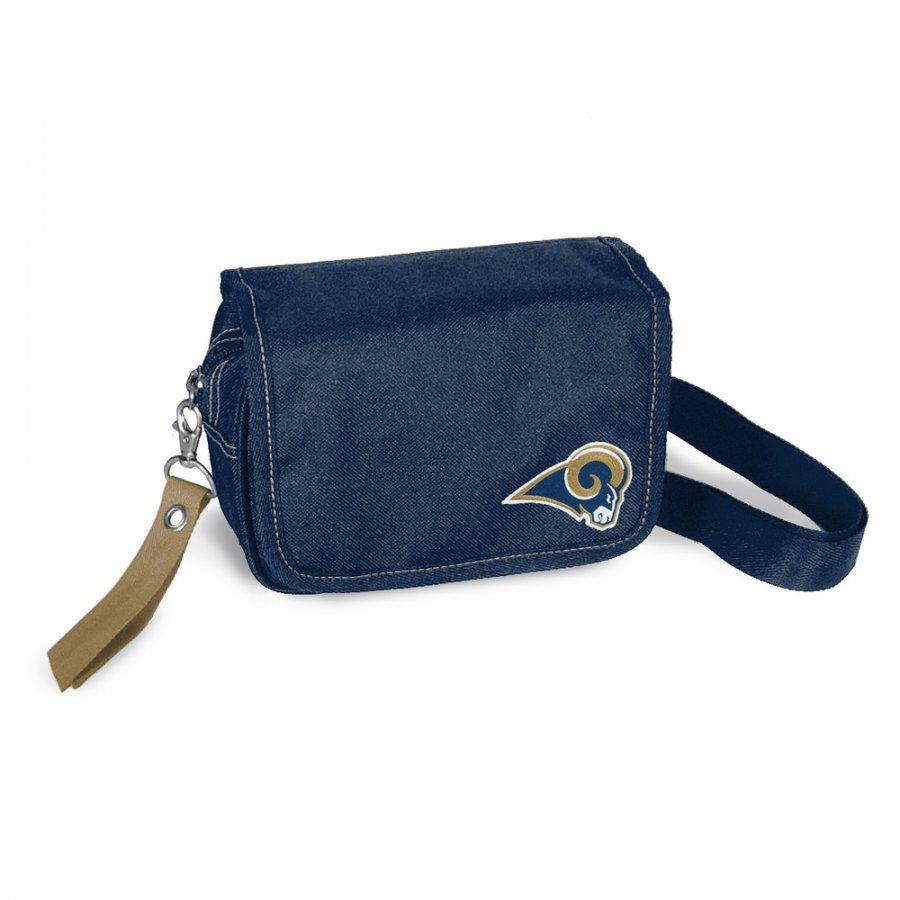 Los Angeles Rams Gold Ribbon Waist Pack Purse