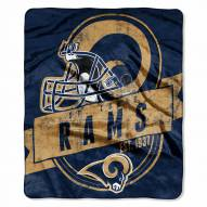 Los Angeles Rams Grand Stand Raschel Throw Blanket