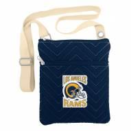 Los Angeles Rams Chevron Stitch Crossbody Bag