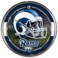 Los Angeles Rams Round Chrome Wall Clock