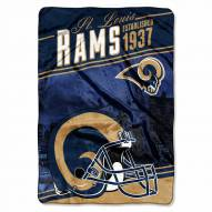 Los Angeles Rams Stagger Raschel Blanket