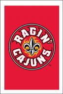 "Louisiana Lafayette Ragin' Cajuns 28"" x 44"" Double Sided Applique Flag"