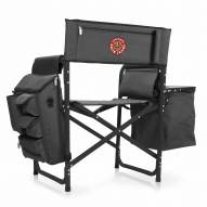 Louisiana Lafayette Ragin' Cajuns Gray/Black Fusion Folding Chair