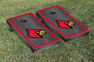 Louisville Cardinals Onyx Stained Border Cornhole Game Set