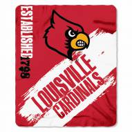 Louisville Cardinals Painted Fleece Blanket