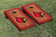 Louisville Cardinals Rosewood Stained Border Cornhole Game Set