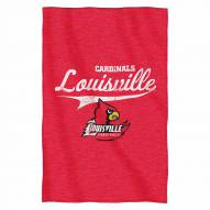 Louisville Cardinals Script Sweatshirt Throw Blanket