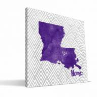 "LSU Tigers 12"""" x 12"""" Home Canvas Print"