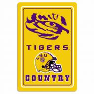 "LSU Tigers 12"" x 18"" Metal Sign"