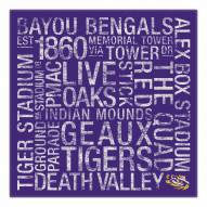 "LSU Tigers 18"" x 18"" Canvas Subway Art"