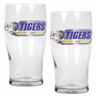 LSU Tigers 20 oz. Pub Glass - Set of 2