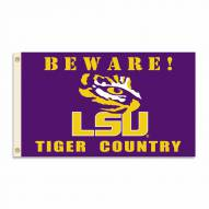 LSU Tigers 3' x 5' Beware Flag