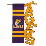 LSU Tigers Applique Garden Flag
