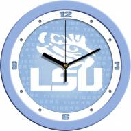LSU Tigers Baby Blue Wall Clock