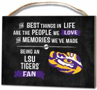 LSU Tigers Best Things Small Plaque