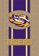 LSU Tigers Burlap Flag