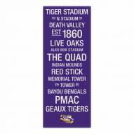 LSU Tigers Canvas Color Subway Art