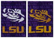 LSU Tigers Double Sided Glitter Garden Flag