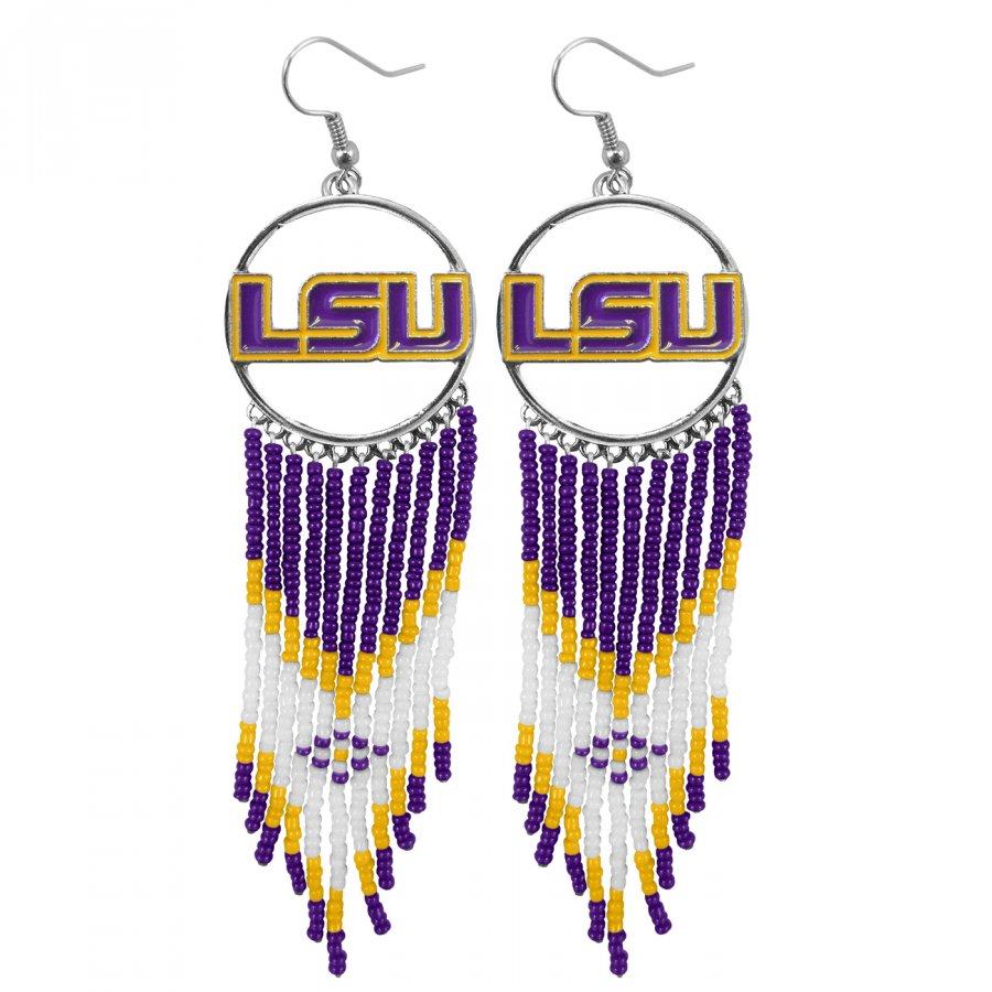 LSU Tigers Dreamcatcher Earrings