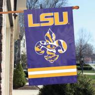 LSU Tigers Fleur-de-Lis Applique Banner Flag