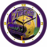 LSU Tigers Football Helmet Wall Clock