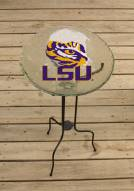 LSU Tigers Glass Bird Bath