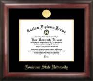 LSU Tigers Gold Embossed Diploma Frame